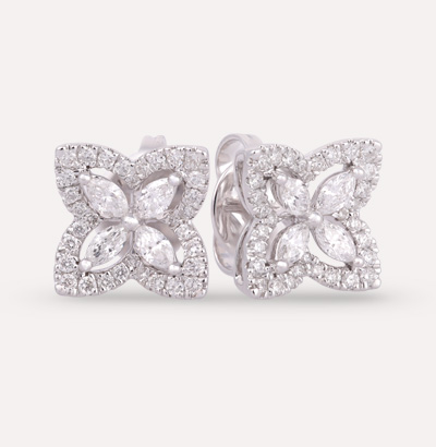 Fajer Diamond  Earrings